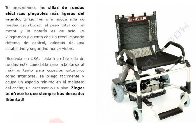 Más La De Ligera Presenta Del Ruedas Plegable Zinger Silla Eléctrica rsthdQC