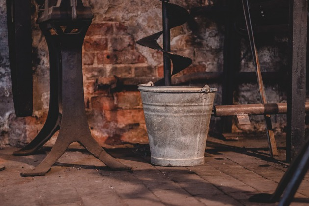 Bucket, Old, Stainless, Dirty, Iron, Rusty, Forge