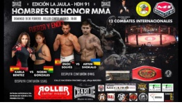 El evento de artes marciales mixtas Hombres de Honor 91 se disputa este domingo en Madrid