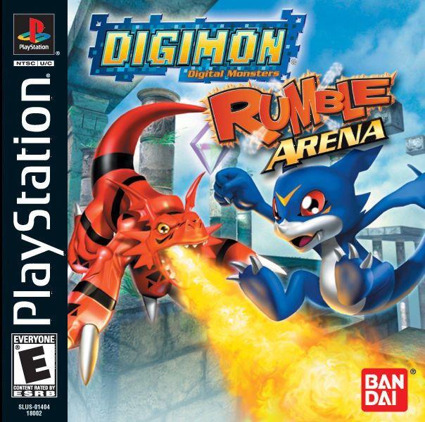 Imagen del juego Digimon Rumble Arena de PlayStation traducido y doblado al español